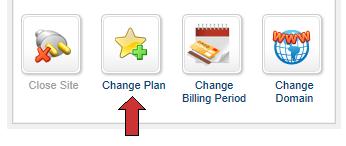 change plan winhost control paneal