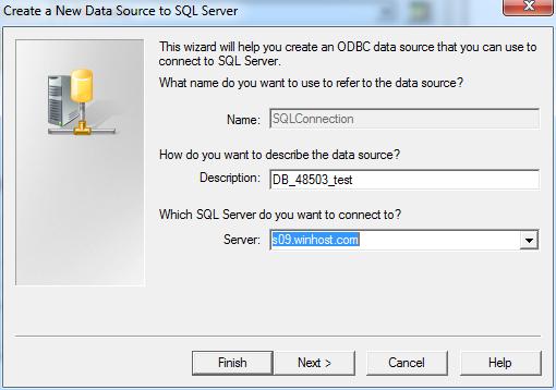 CreateNewDataSourceToSQLServer