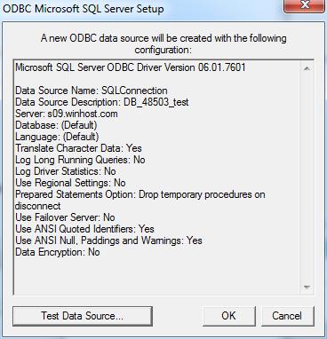 ODBCMicrosoftSQLServerSetup