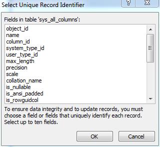 SelectUniqueRecordIdentifier
